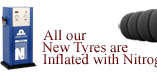 Nitrogen inflated tyres